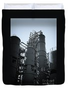 Coal Washing Plant Silos Duvet Cover