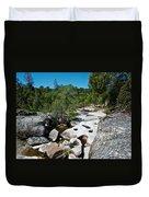 Coarsegold Creek Bed In Park Sierra-ca Duvet Cover
