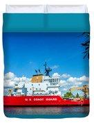 Coast Guard Cutter Mackinaw Duvet Cover