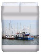 Coast Guard Maasholm Harbor Duvet Cover