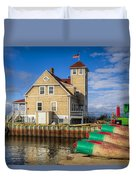 Coast Guard Station Duvet Cover