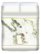 Coast Survey Map Of San Francisco Bay And City Duvet Cover