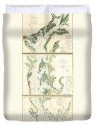 Coast Survey Map Of The Chesapeake Bay  Duvet Cover
