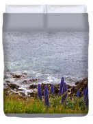 Coastal Cliff Flowers Duvet Cover