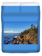 Coastal Maine Landscape. Duvet Cover