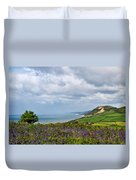 Coastal Overlook From Eype Duvet Cover