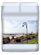 Coastal Overview At Lyme Regis Duvet Cover