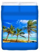 Coastal Palm Trees Duvet Cover