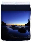 Coastal Sunset Skies Reflection Duvet Cover