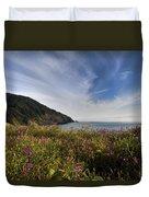 Coastal Wildflowers Of Oregon Duvet Cover