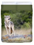 Coastal Wolf Duvet Cover