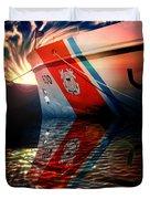 Coast Guard Uscg Alert Wmec-630 Duvet Cover by Aaron Berg