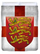 Coat Of Arms And Flag Of England Duvet Cover