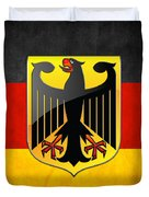Coat Of Arms And Flag Of Germany Duvet Cover