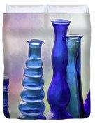 Cobalt Blue Bottles Duvet Cover