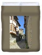 Cobblestone Village Street Duvet Cover