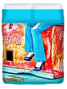 Coca-cola And Stiletto Heels Duvet Cover