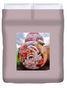 Coca Cola Christmas Bulbs Duvet Cover