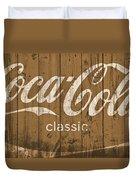 Coca Cola Classic Barn Duvet Cover