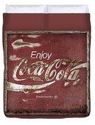 Coca Cola Faded Sign Duvet Cover