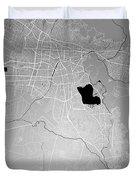 Cochabamba Street Map - Cochabamba Bolivia Road Map Art On Color Duvet Cover