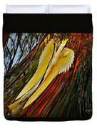Cockatoo In Abstract Duvet Cover
