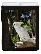 Cockatoo White Parrot Duvet Cover