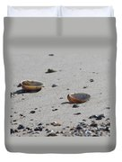 Cockle Shells On Little Island Duvet Cover