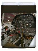 Cockpit Of A P-40e Warhawk Duvet Cover