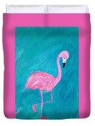 Cocky Flamingo Joe Duvet Cover