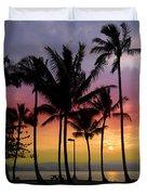 Coconut Island Sunset - Hawaii Duvet Cover