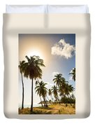 Coconut Trees Duvet Cover