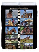 Code Of The West Duvet Cover