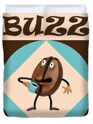 Coffee Buzz Duvet Cover by Amy Vangsgard