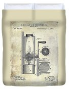 Coffee Mill Patent 1893 Duvet Cover