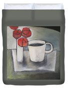 Coffee And Roses Duvet Cover