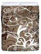 Coffee Flowers 1 Duvet Cover
