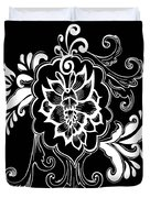 Coffee Flowers 10 Duvet Cover