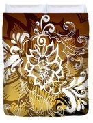 Coffee Flowers 10 Calypso Duvet Cover
