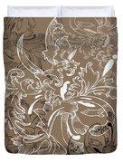 Coffee Flowers 11 Duvet Cover