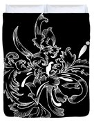 Coffee Flowers 11 Bw Duvet Cover