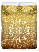 Coffee Flowers 11 Calypso Ornate Medallion Duvet Cover