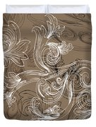 Coffee Flowers 2 Duvet Cover