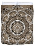 Coffee Flowers 2 Ornate Medallion Duvet Cover