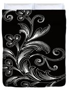 Coffee Flowers 4 Bw Duvet Cover