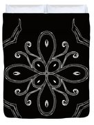 Coffee Flowers 4 Bw Ornate Medallion Duvet Cover