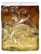 Coffee Flowers 4 Calypso Duvet Cover