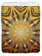 Coffee Flowers 4 Calypso Ornate Medallion Duvet Cover