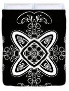 Coffee Flowers 5 Bw Ornate Medallion Duvet Cover
