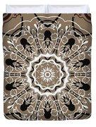 Coffee Flowers 5 Ornate Medallion Duvet Cover